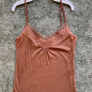 Brown tank top with jewels